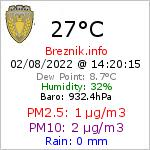 Current Weather Conditions in Breznik, 754 m